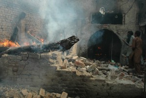 More than 180 homes and shops were reduced to rubble in Islamic rampage in Lahore